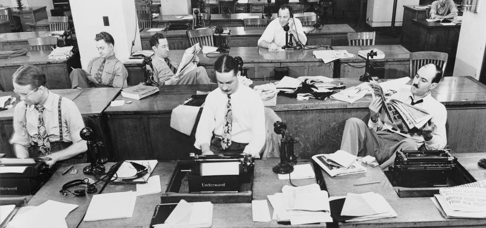 Newsroom circa 1942